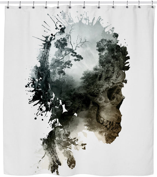 Skull - Metamorphosis Shower Curtain
