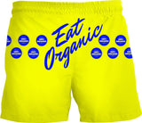 100% ORGANIC..EAT ORGANIC Swim Trunks