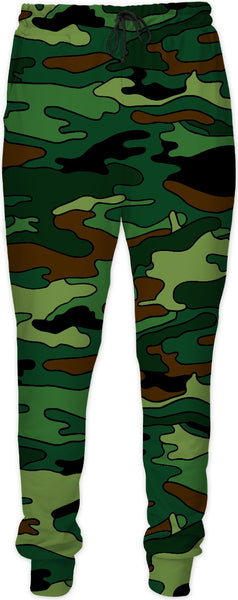Green & Brown Camouflage Joggers