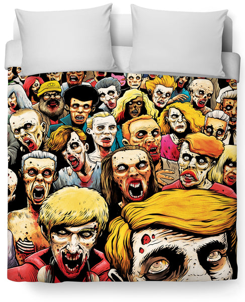 Zombies at the Mall Duvet Cover