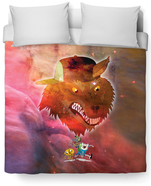 Adventure Time Party God Duvet Cover