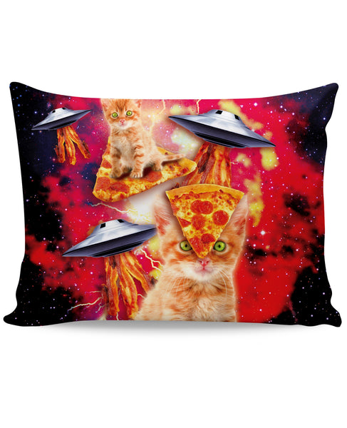 Bacon Pizza Space Cat Pillow Case