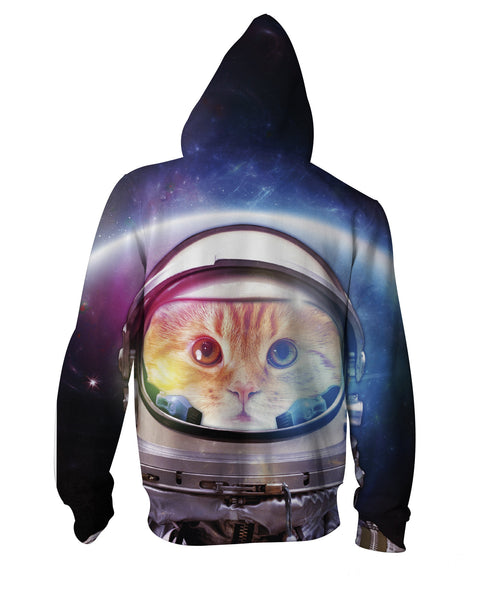 Space Cat Zip-Up Hoodie