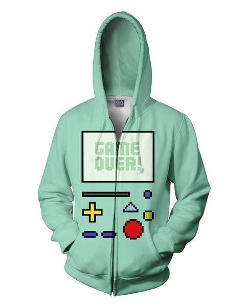 Game Over BMO Zip-Up Hoodie