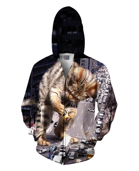 Kitty Zilla Zip-Up Hoodie