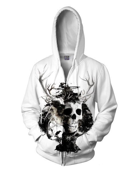 King of Spades Zip-Up Hoodie