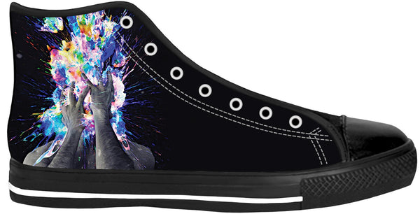Artistic Bomb Black Sole High Top Shoes