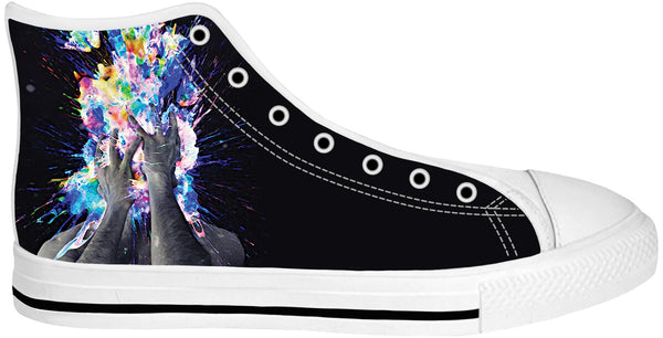 Artistic Bomb White Sole High Top Shoes
