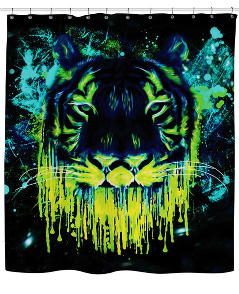 Tiger Drippy Shower Curtain