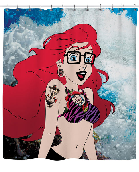 Hipster Ariel Shower Curtain