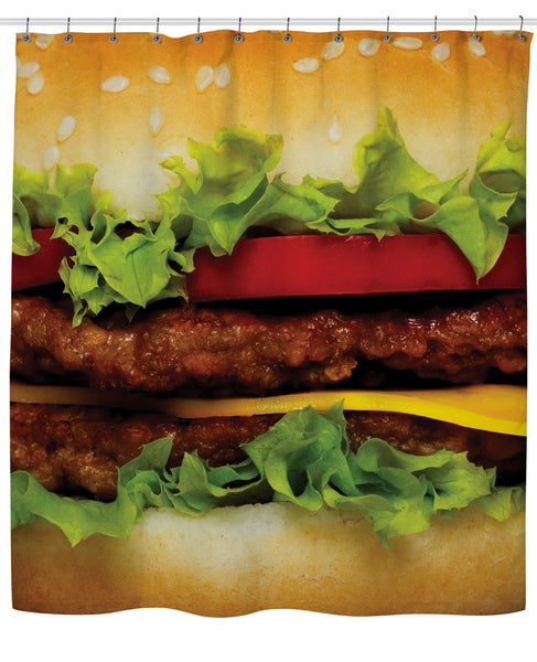 Burger Shower Curtain