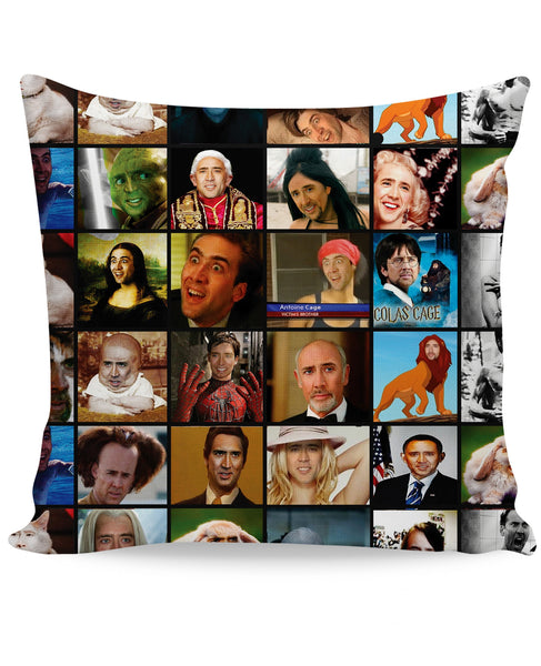 Nicolas Cage Rage Faces Couch Pillow