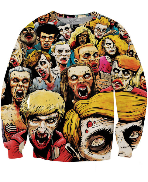 Zombies at the Mall Crewneck Sweatshirt