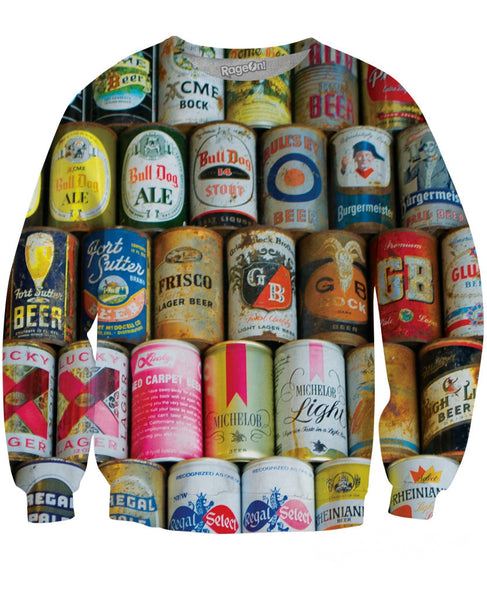 Beer Cans Crewneck Sweatshirt