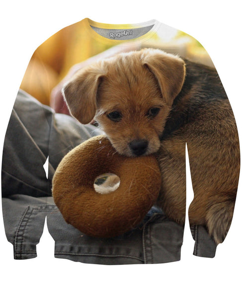 Donut Dog Crewneck Sweatshirt