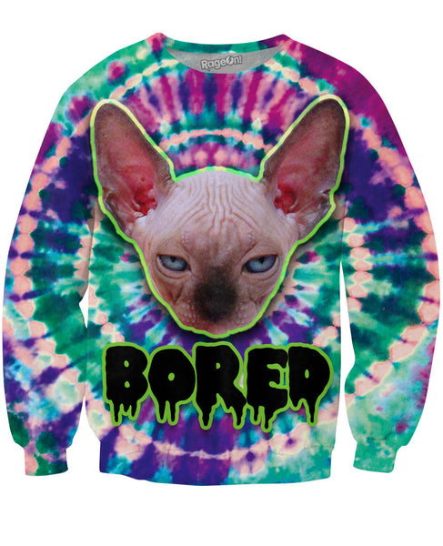 Bored Cat Crewneck Sweatshirt