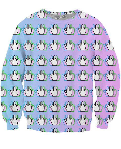 Middle Finger Crewneck Sweatshirt