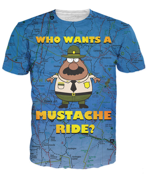 Who Wants a Mustache Ride T-Shirt