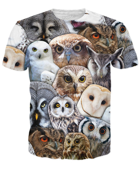 Owl Collage T-Shirt