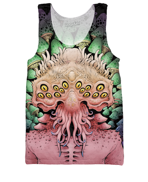 Multi Dimensional Mushrooms Tank Top