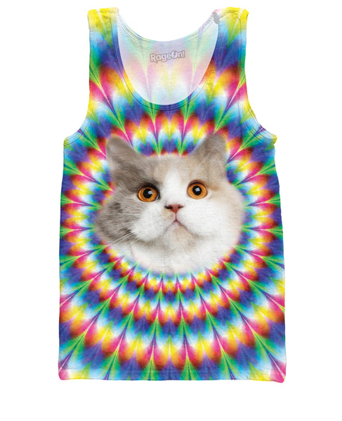 Cat Into the Rainbow Tank Top
