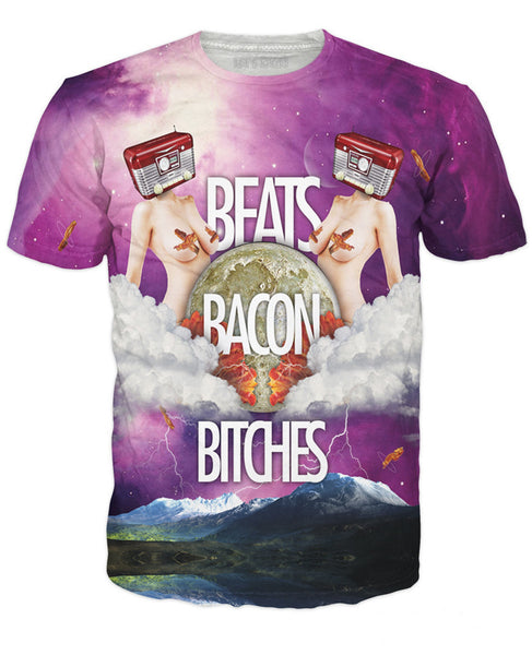 Beats Bacon Bitches T-Shirt