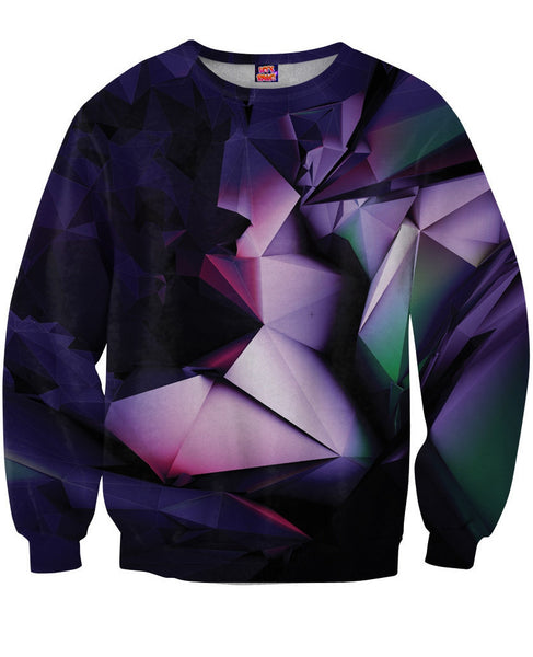 Purple Geometry Sweatshirt