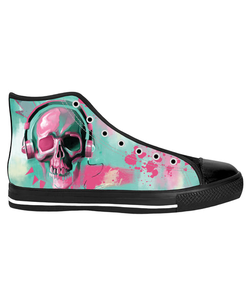 Skull Candy Black Sole High Top Shoes