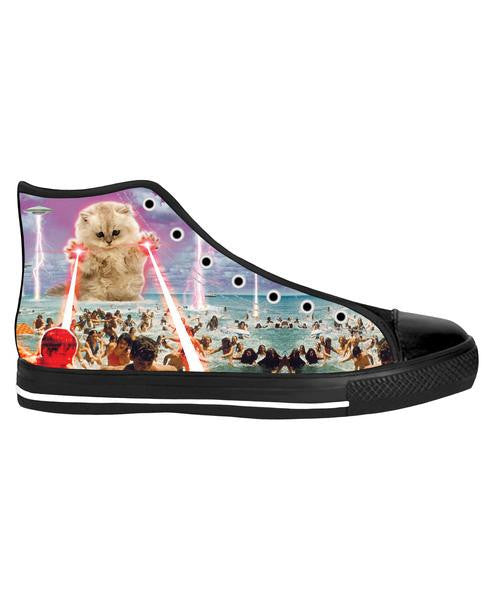 The Kitten No One Loved Black Sole High Top Shoes