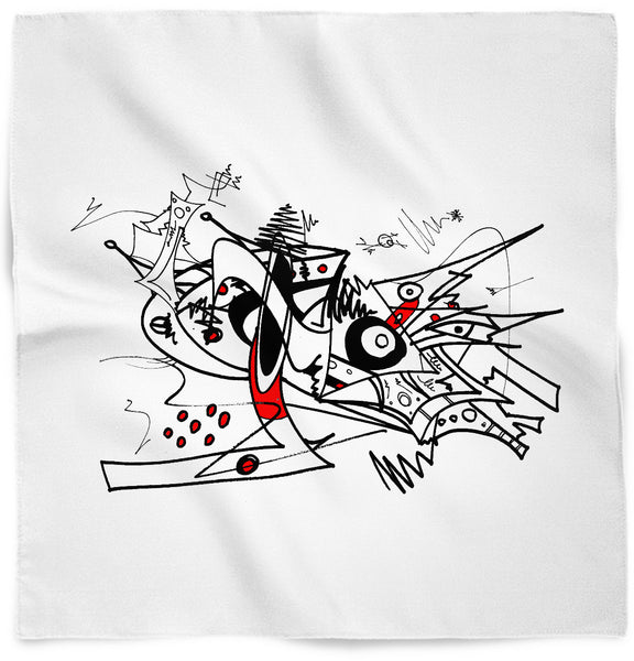 Red & Black Abstract 1 Bandana