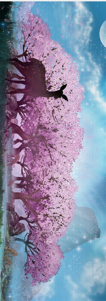 Cherry Blossom Lake Yoga Mat