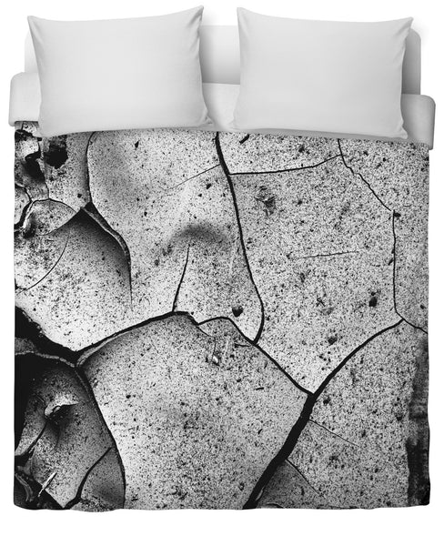 Abstract Cracks Duvet Cover