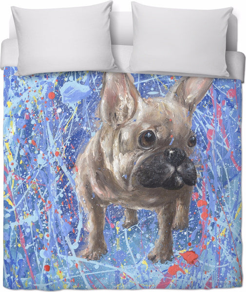 BON ABSTRACT BULLDOG Duvet Cover