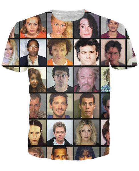 Celebrity Mugshot T-Shirt