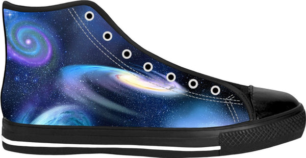 Space Black High Top Shoes