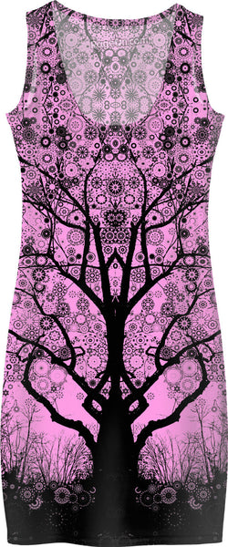 Pink Star Trip Tree Dress