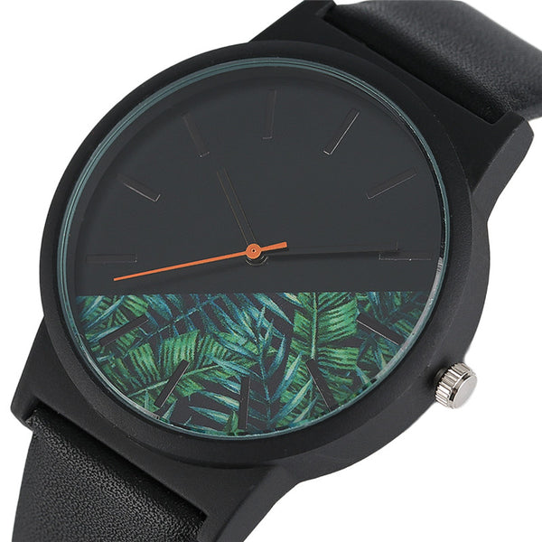 Nature Cut Leather Wristwatch