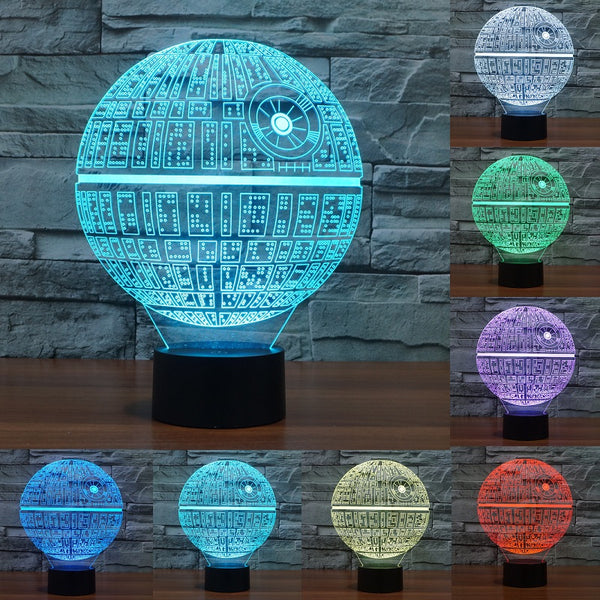 Death Star 3D LED Touch Table Lamp (7 Color)