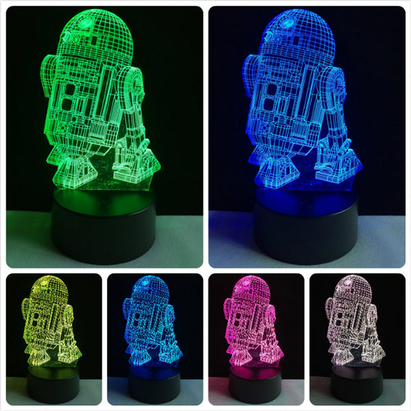 R2-D2 LED 3D Touch Lamp