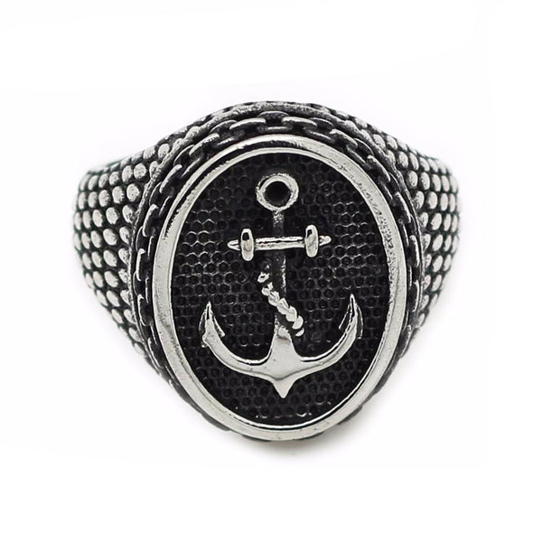 Stainless Steel Vintage Anchor Ring
