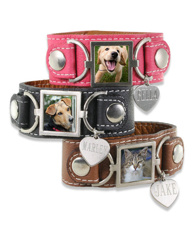 Leather Photo Bracelets & Extras Pet Memorial Jewelry Collection