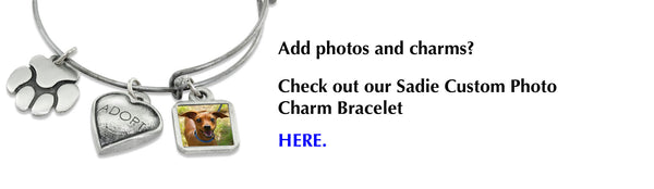 Sadie bangle bracelet charms photo charms