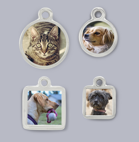 pet picture charm photo charm pet memorial photo charm