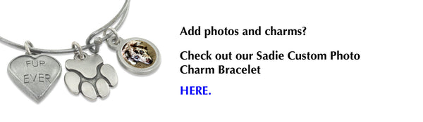 sadie bangle bracelet with charms extra photo charms