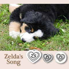 Zelda's Song Engraved Heart Charm