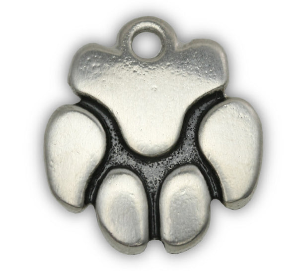 paw dog charm for dog charm bracelet and photo bracelet