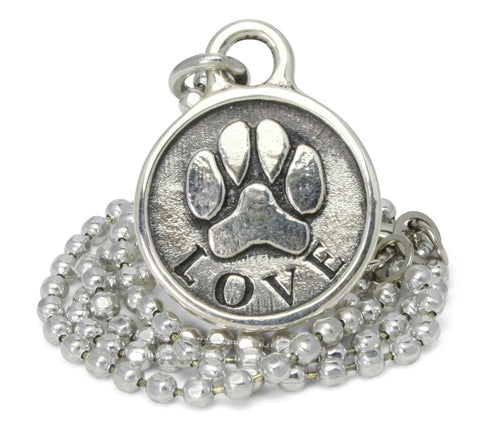 dog necklace, paw print necklace, dog paw print, pet jewelry