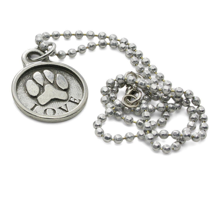 Paw print jewelry love paw print necklace paw print necklace dog jewelry paw print jewelry aloadofball Images