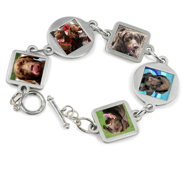 Dog Bracelet Photo Bracelet for Pet Memorial Jewelry