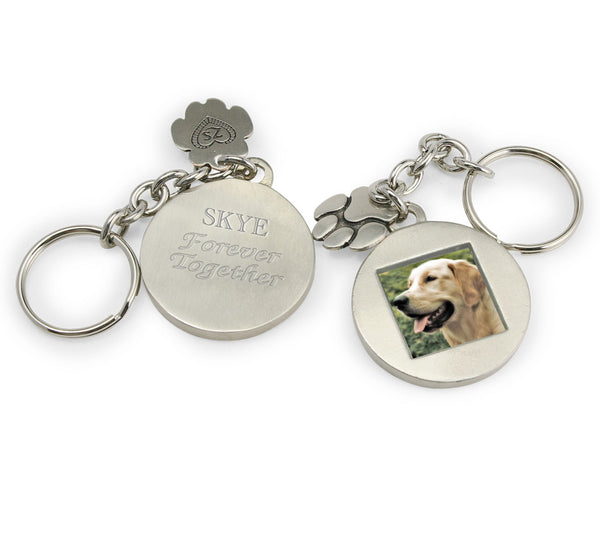 photo keychain with custom engraving